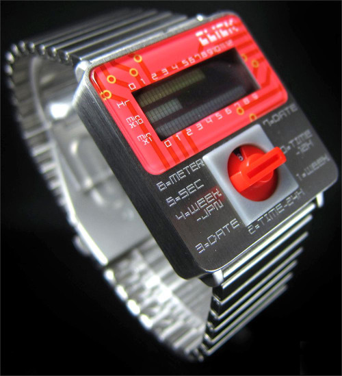 Click Turn Silver/Red Steel