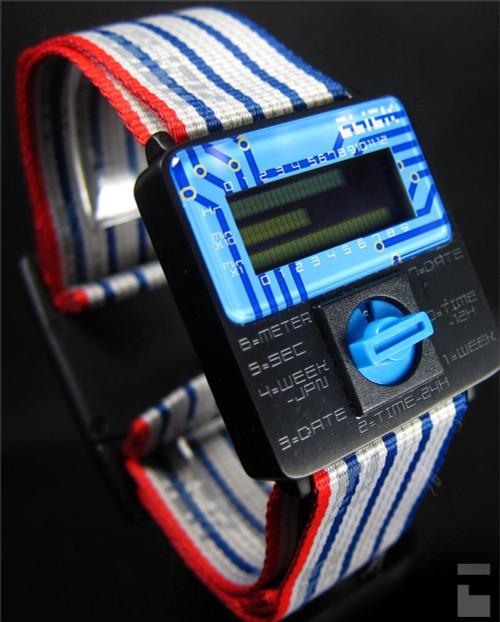 Click Turn Black/Blue Ribbon