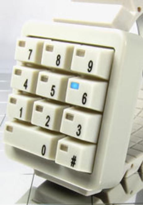 Click Keypad White Hidden Time