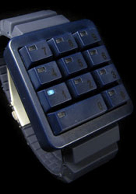 Click Blue Keypad Hidden Time
