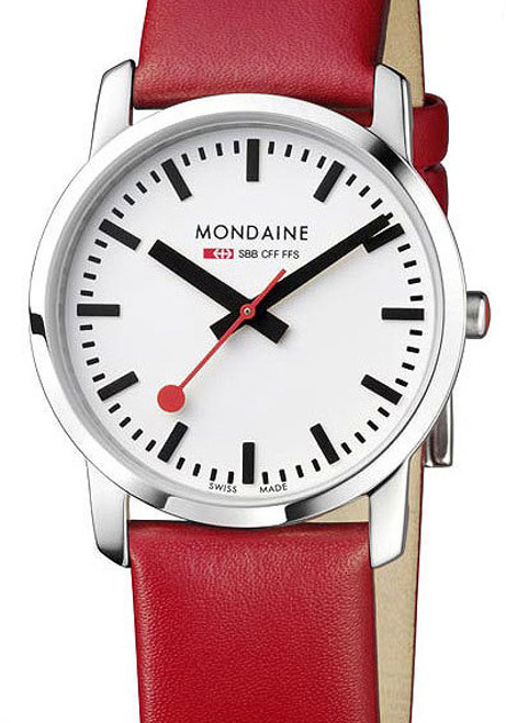 Mondaine Simply Elegant Thin Red -Ladies