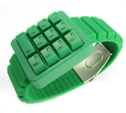 Click Keypad Hidden Time Green