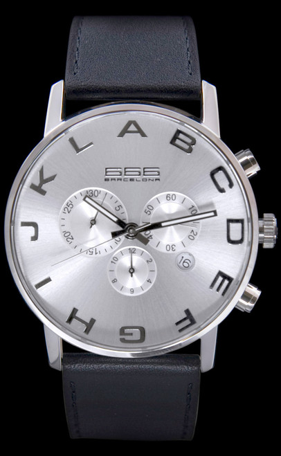Alphabet Chrono Silver/Black