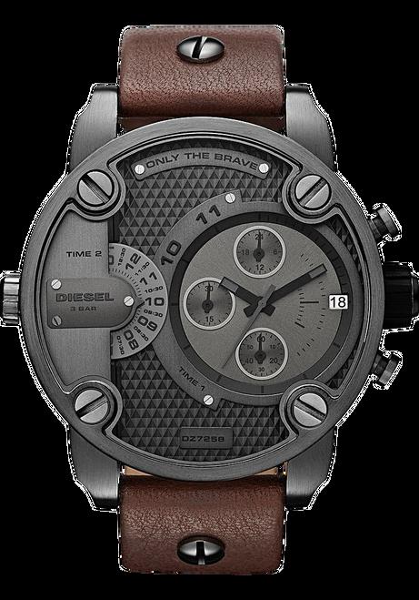 Diesel DZ7258 SBA Leather Chrono Gunmetal/Brown