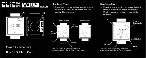 Click Wall Switch Watch -Black