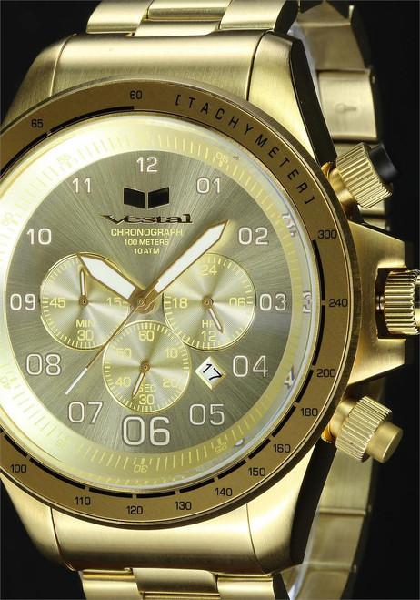 Vestal ZR3020 ZR3 All Gold Chronograph