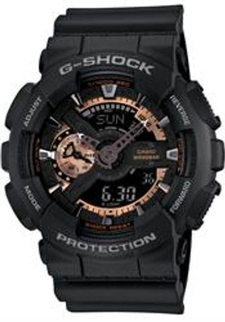 G-Shock Rose Gold Black XL Analog Digital
