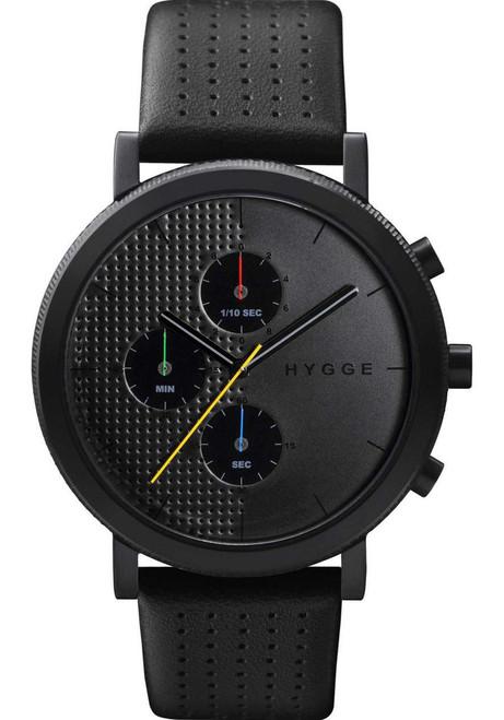 HYGGE 2204 Duality Chrono Leather Black