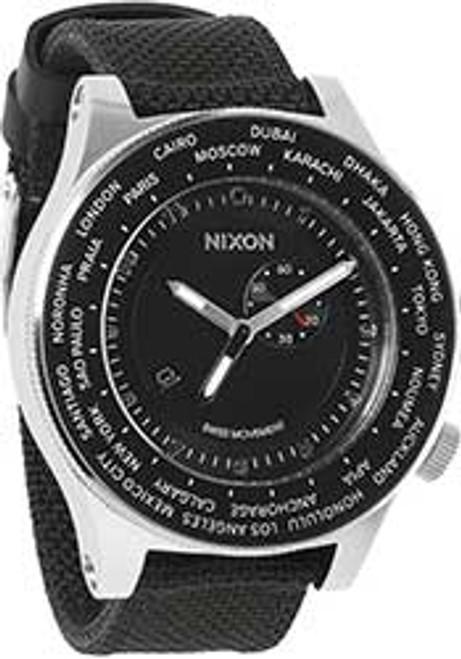 Nixon Passport World Time Silver Black