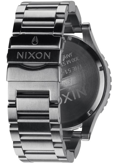 Nixon 51-30 Chrono Silver/Gunmetal back