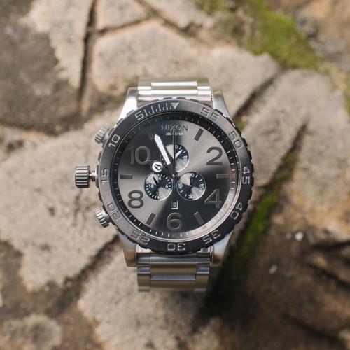 Nixon 51-30 Chrono Silver/Gunmetal (A0831762)