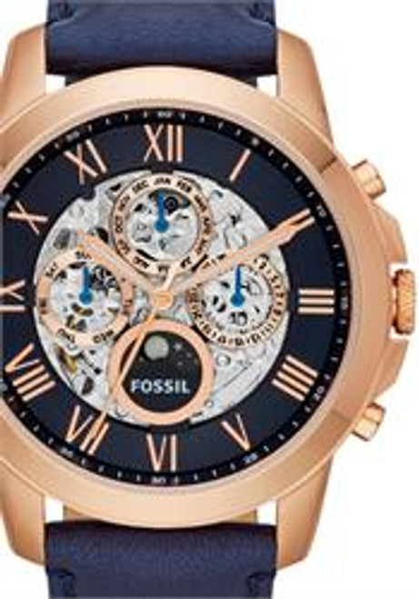 Fossil ME3029 Grant Leather Automatic Rose Gold/Navy