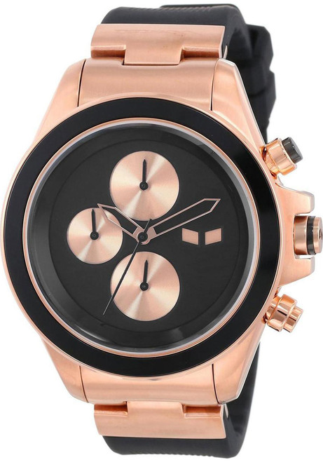 Vestal ZR2CS05 ZR2 Rubber Rose Gold/Black Chrono