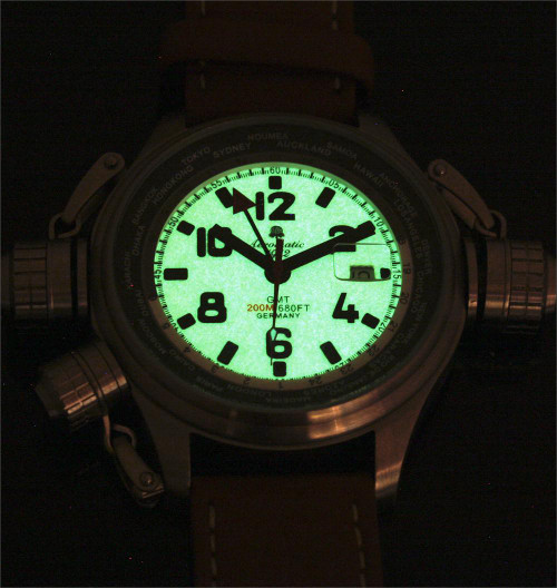 Aeromatic 1286M Cannon GMT Worldtime Luminous