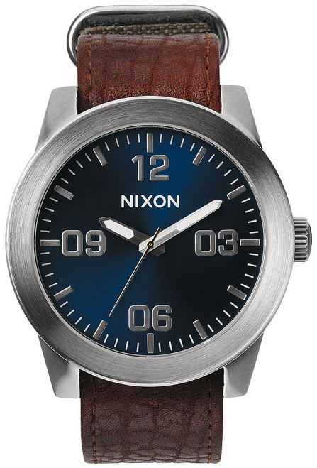 Nixon Corporal Leather Brown/Blue Sunray