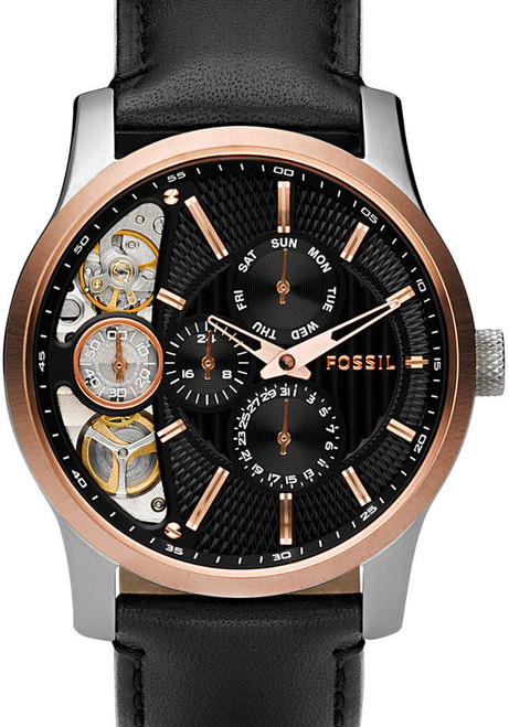 Fossil ME1099 Twist Mechanical Quartz Leather Watch