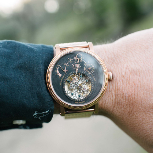Xeric xeriscope automatic rose gold mesh for Watches xeric