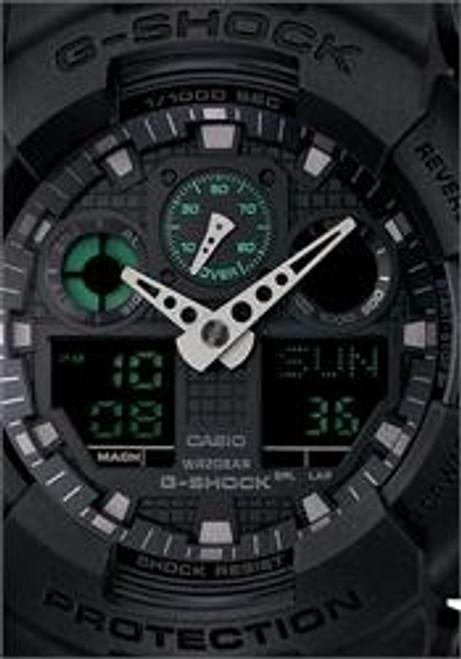 G-Shock Classic X-Large Matte Black Green Digital
