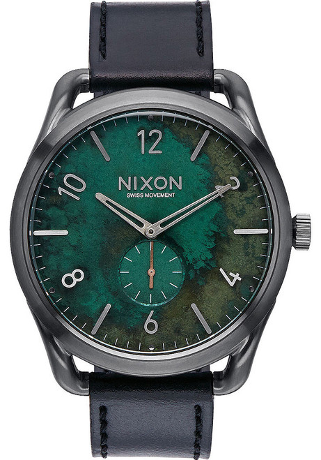 Nixon C45 Leather Gun Green Oxyde (A4652069)