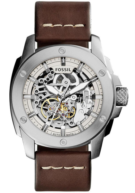 Fossil Modern Machine Leather Automatic Brown