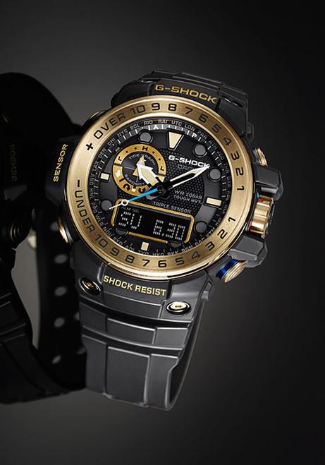 G-Shock Gulfmaster Solar Tide Black/Gold