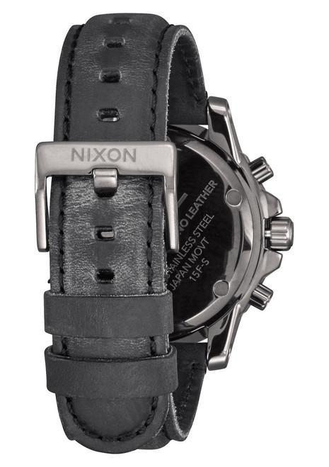 Nixon Ranger Chrono Leather Gunmetal Lum