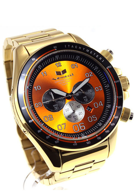 Vestal ZR3029 ZR-3 XL Polished Gold/Orange