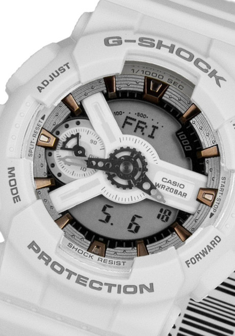 G-Shock S-Series Military White Rose Gold (GMAS-110CM-7A2)