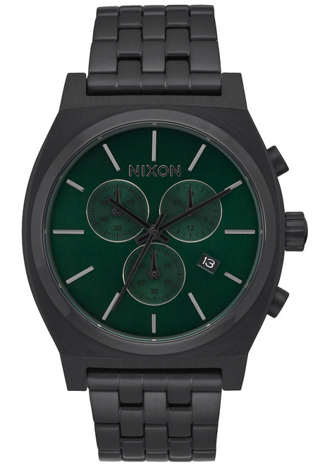 Nixon Time Teller Chrono All Black Green (A9722399)
