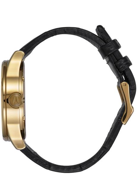 Nixon Sentry Leather Gold Black Gator (A1052022)