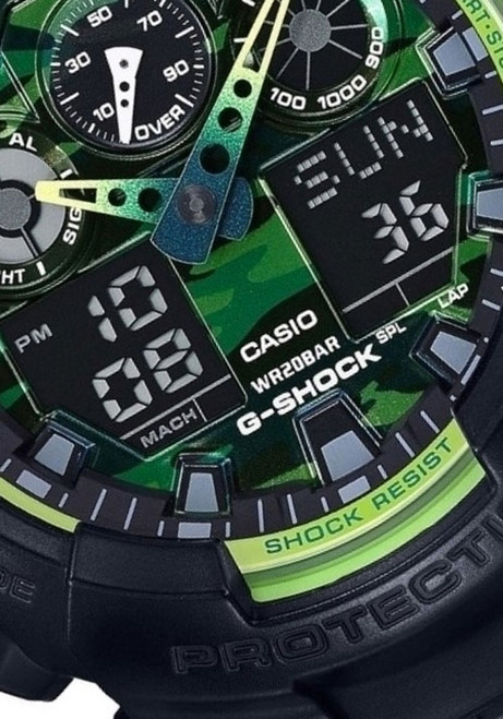 G-Shock GA-100 Sporty Illumi Series Black
