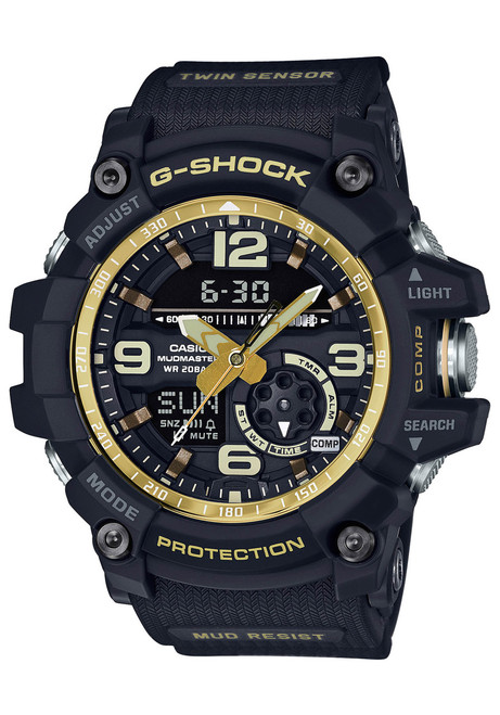 G-Shock Mudmaster Black Vintage Gold (GG-1000GB-1A)
