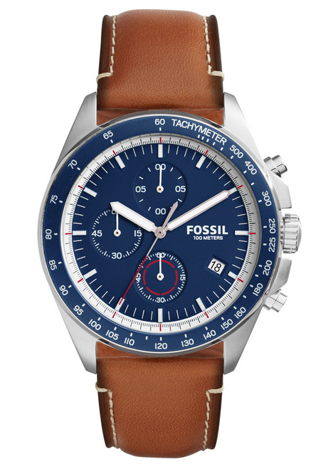 Fossil CH3039 Sport 54 Chronograph Light Brown Leather