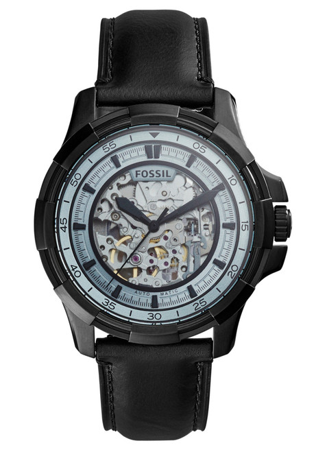 Fossil ME3130 Dean Automatic All Black Leather