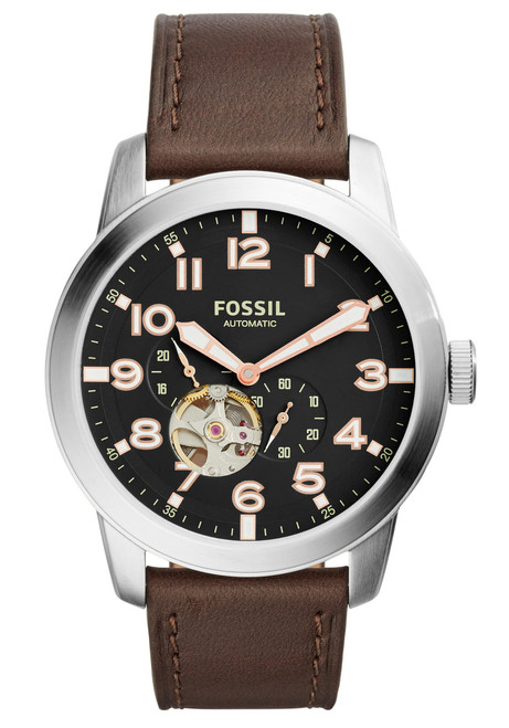 Fossil ME3118 Pilot 54 Automatic Brown Leather