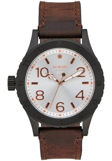 Nixon 38-20 Leather Black Silver Brown (A4672358)