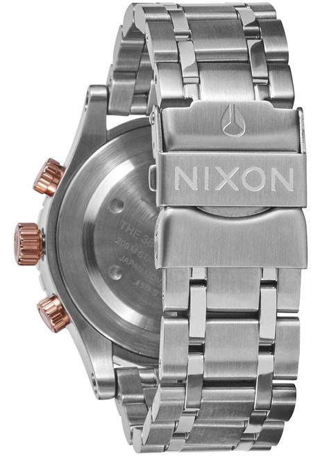 Nixon 38-20 Chrono Silver Rose Gold Taupe (A4042215)