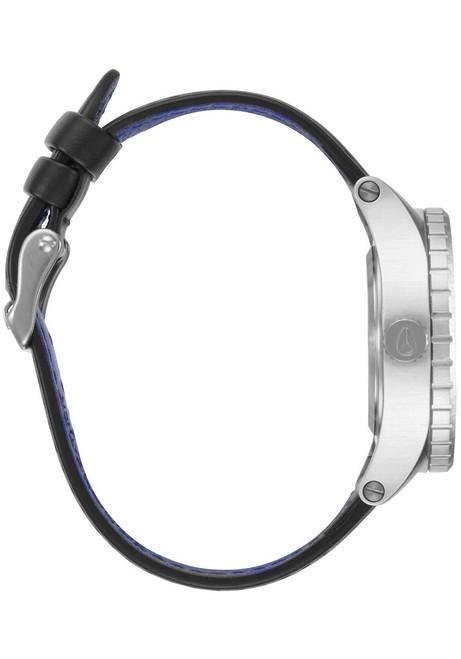 Nixon 38-20 Leather Silver Black Blue (A4672184) side