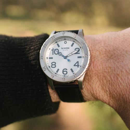 Nixon 38-20 Leather Silver Black Blue (A4672184)