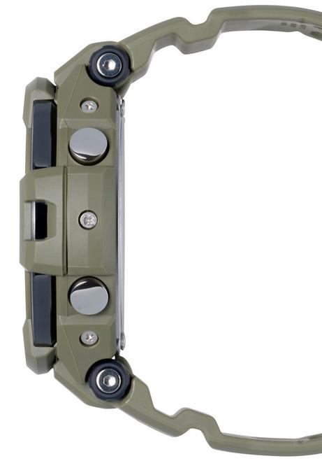G-Shock GravityMaster Twin Sensor Olive Green (GA-1100KH-3A) SIDE