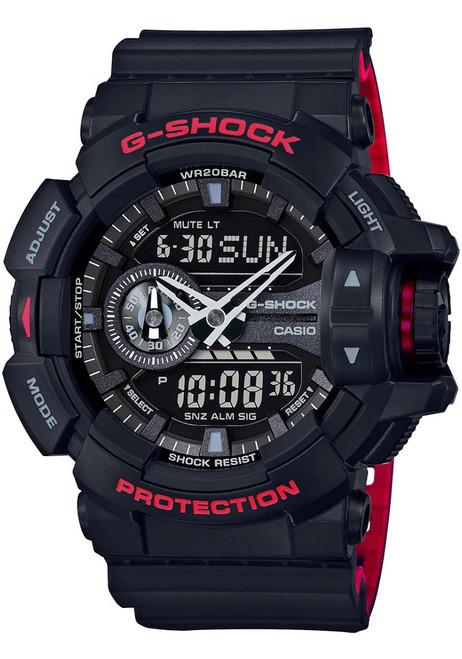 G-Shock GA-400 Anadigi Black Red (GA-400HR-1A) FRONT