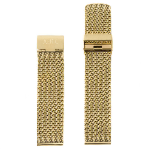 Xeric 24mm Gold PVD Mesh Strap (XRC-MESH-24-GDGD) front