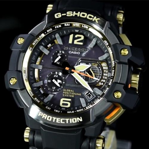G-Shock Gravitymaster Solar GPS Hybrid Black Gold (GPW1000GB-1A)