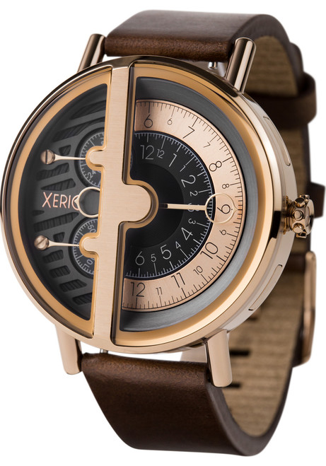 Xeric soloscope rq rose gold brown for Watches xeric