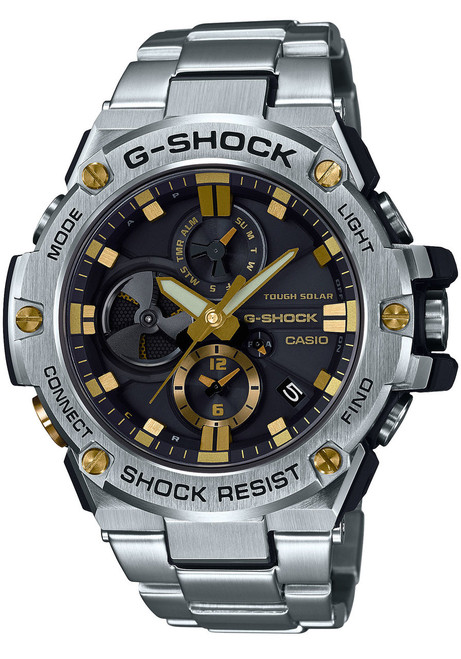 Casio G-Shock G-Steel Connected Silver Gold GSTB100D-1A9