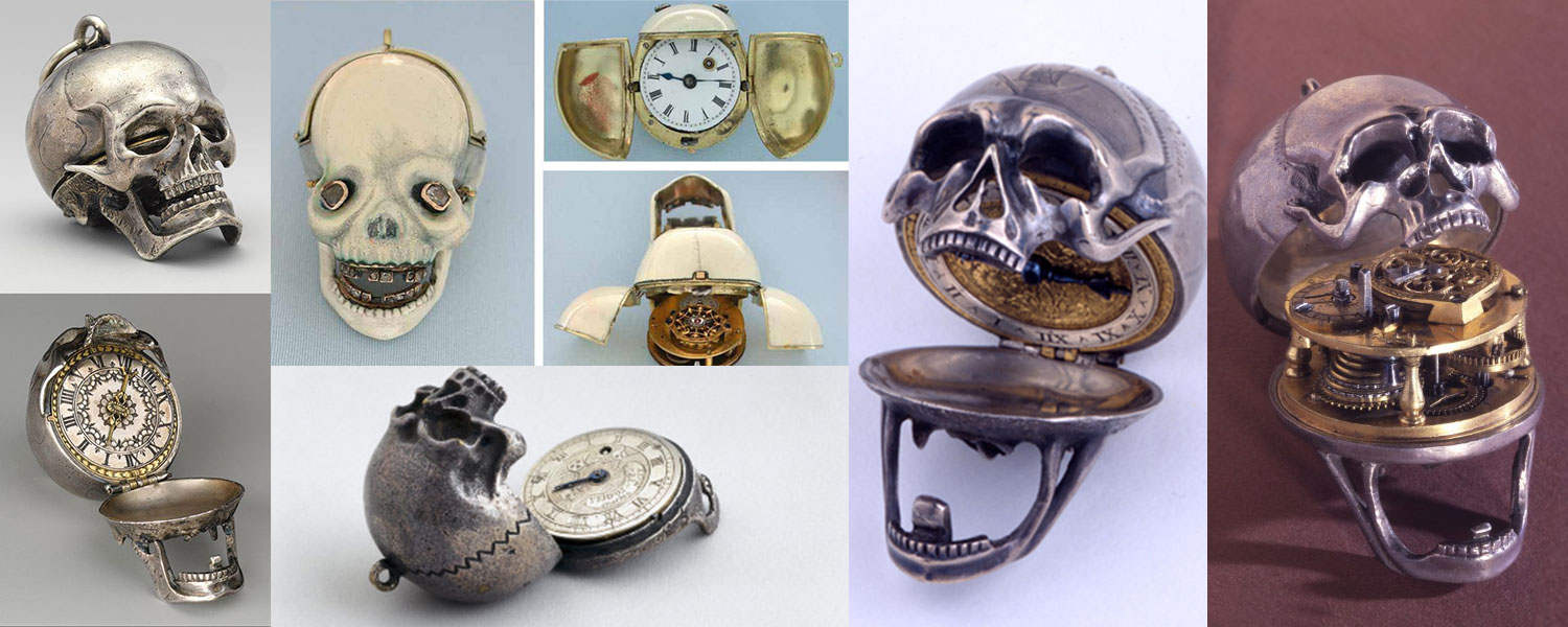 antique skull pocket watches memento mori