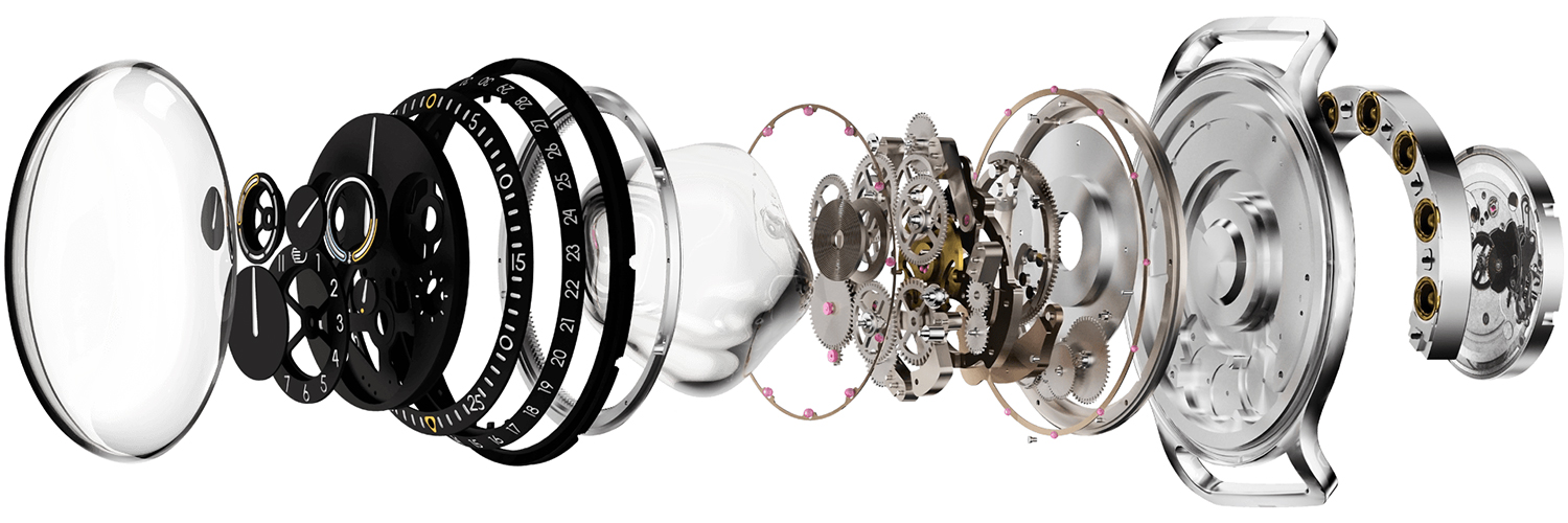 Ressence TYPE 3 Exploded View of Components