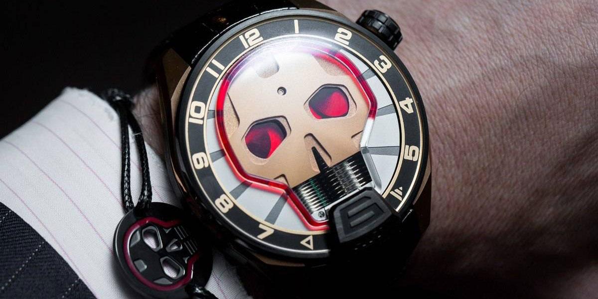 HYT hydro mechanical skull watches
