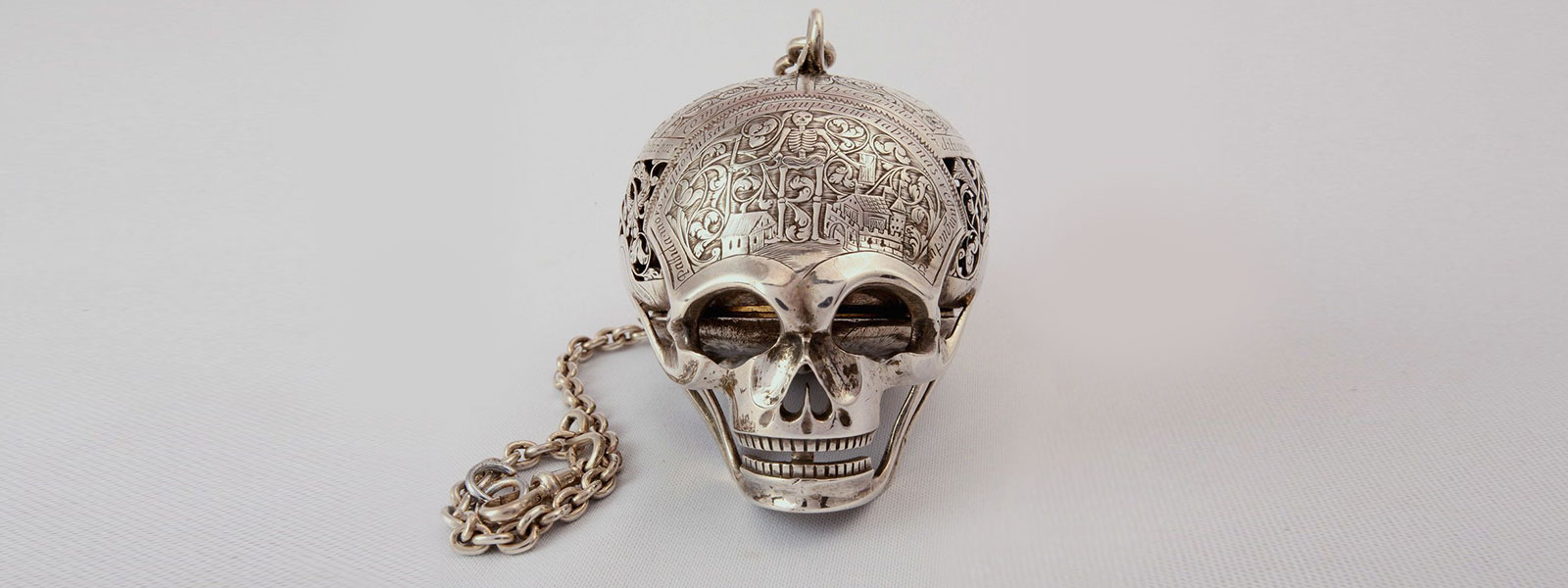 Mary Queen of Scots Memento Mori Death's Clock Pocket Watch
