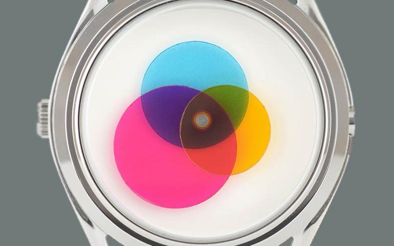 Mr. Jones Colour Venn Three-Color Disc Watch